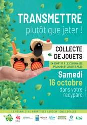 Collecte de jouets dans votre recyparc le 16 octobre 2021